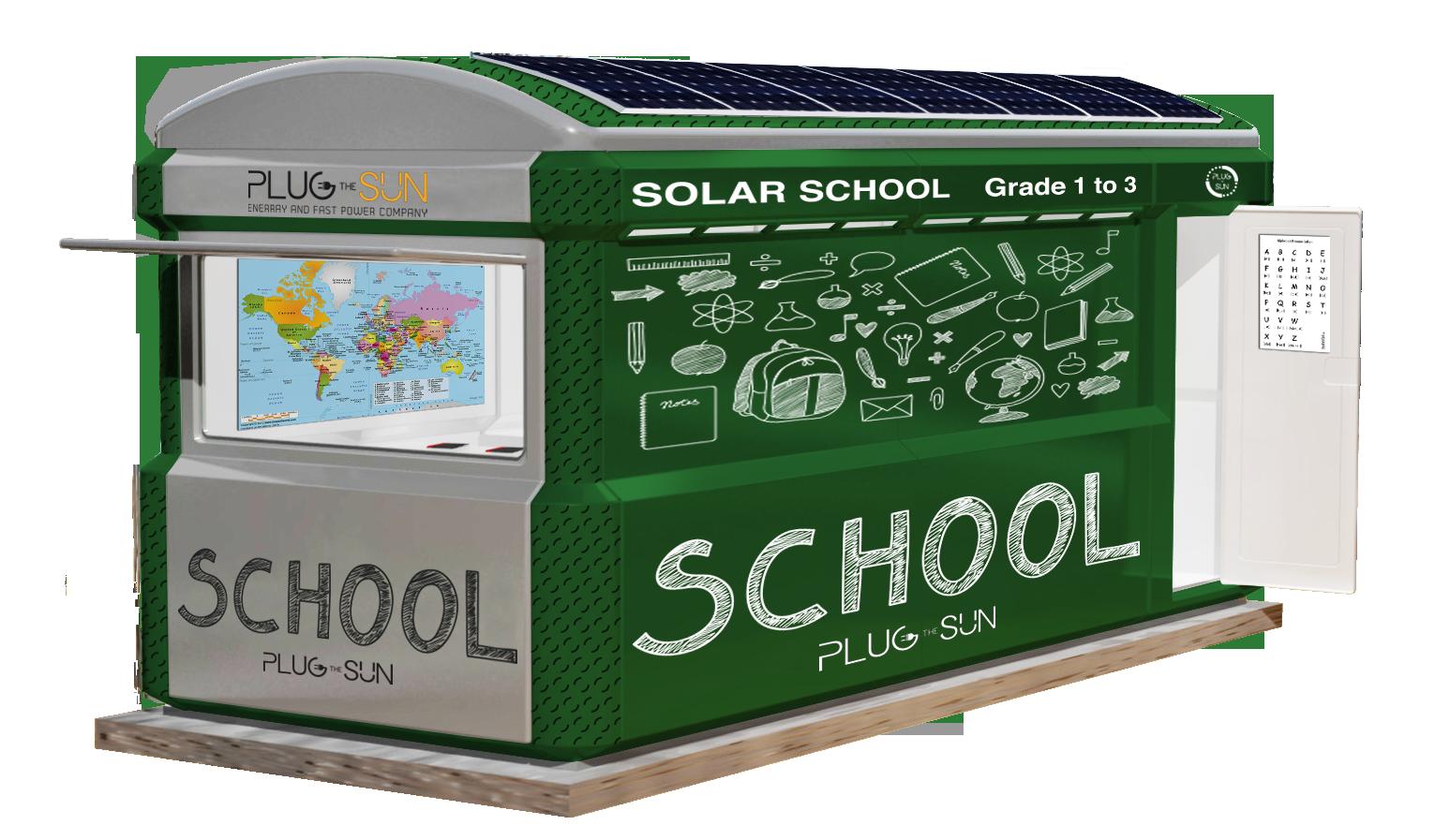rayvill mobile solar-powered school point external